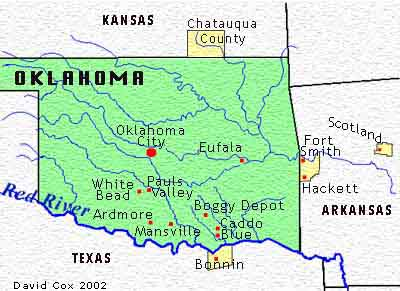 Map Of Texas Oklahoma Border